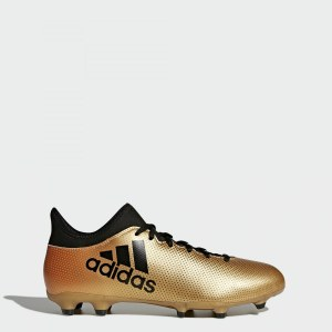 a6bfad6e2546 Футбольные бутсы X 17.3 FG adidas Performance tactile gold met. f17   core  black