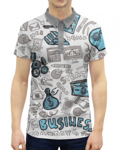 819db6930c2 Рубашка Поло с полной запечаткой Printio Бизнес