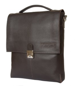 55b005d72412 Carlo Gattini Кожаный мужской планшет Cavazzo brown (арт. 5004-04)