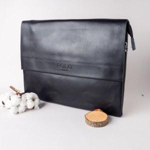 09b7ae362719 Сумка портфель мужская для ноутбука, документов Polo (Черный)