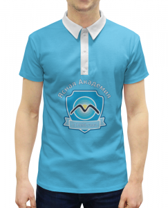 01daeed4884 Рубашка Поло с полной запечаткой Printio Ясная академия с 1998