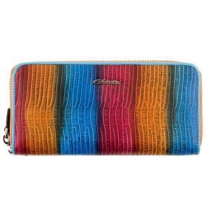 2c1c6ef51968 Женский кожаный кошелек Giorgio Ferretti 00051-A506 blue GF большого размера