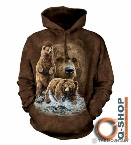 90a06a39 Толстовка Mountain c капюшоном - FIND 10 BROWN BEARS HOODIE (XL)