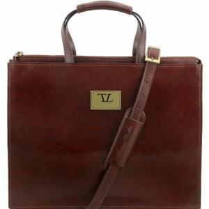 c925630bd0de Palermo - Женский кожаный бизнес портфель, Коричневый