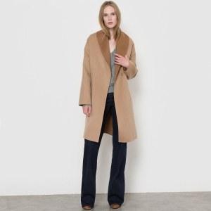 a4b85caa039 Пальто La Redoute Двухцветное с поясом шерсти