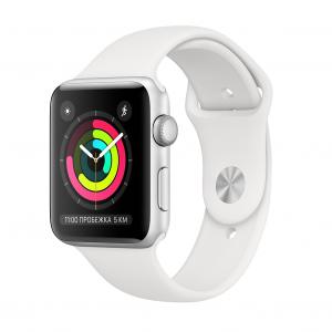 54d2e3d6 Умные часы Apple Watch Series 3 GPS, 38 мм, MTEY2 корпус из серебристого  алюминия