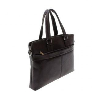 58b85e160af9 Мужская сумка Paradise из эко-кожи цвета горького шоколада.