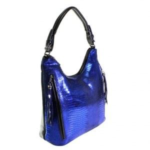ab078183cc90 Стильная женская сумочка Carevol_Elonge из натуральной кожи цвета темного  индиго.