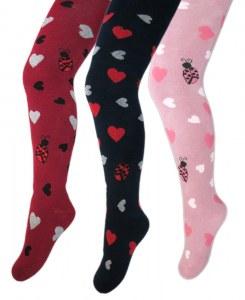fc8dbbc03e2a3 Махровые колготки с рисунком для девочки A.VEASA 35037 К (Красный 5-6