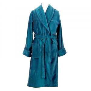 30720471c01d1 Халат махровый унисекс Gant Home PREMIUM VELOUR ROBE, размер M, голубой,  100%