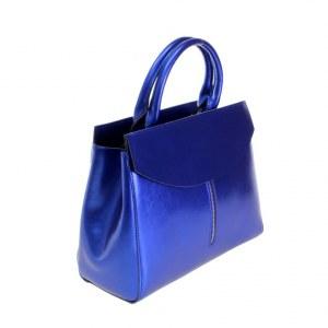 92fa968e70bb Стильная женская сумочка Leflora_Elone из натуральной кожи цвета  ультрамарина.