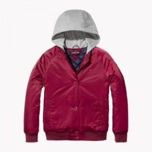 93d91829405 Бомбер с капюшоном - Красный - Tommy Hilfiger - 152 cm - Girls