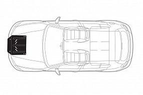 Комплект: защита картера и крепеж NLZ для Great Wall Hover H6 1 поколение [2020-...] (2,0 дизель МКПП)
