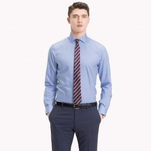 6e39ba9482e Облегающая рубашка из немнущегося хлопка - Синий - Tommy Hilfiger - 44R -  Мужчины