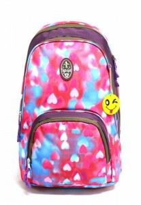 06a1288475c4 Ufo People Рюкзак школьный 2 отделения 16 л фиолетовый арт.7653