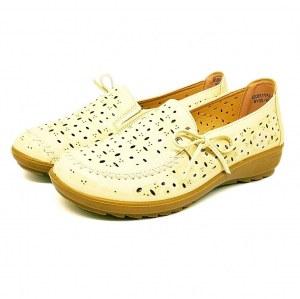 1e6ed5bbb 2624-LF71762D Туфли женские летние Health Shoes econom и/к н/к бежевый