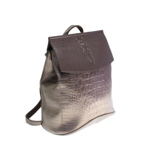 44a7e5040b78 Стильная женская сумка-рюкзак Crols_Tine из эко-кожи бронзового цвета.