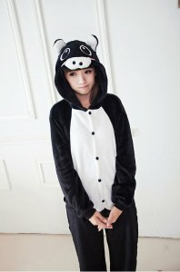 5de76fb13958 Детская пижама кигуруми Черная Свинка (135 см)