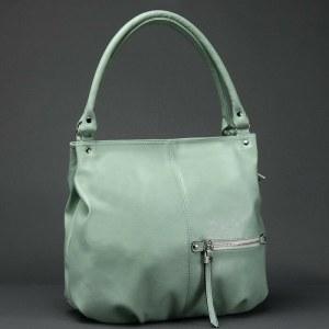 8a73ad51aa81 Сумка женская искусственная кожа gr-1649, одно отделение, передний карман,  зеленая пастель