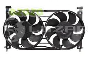 LUZAR LFK01220 блок электровентиляторов охлаждения с кожухом 2 вентиялятора ваз-21214 нива lfk01220