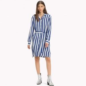 7da2477eee655 Платье-рубашка в полоску - Синий - Tommy Hilfiger - M - Женщины