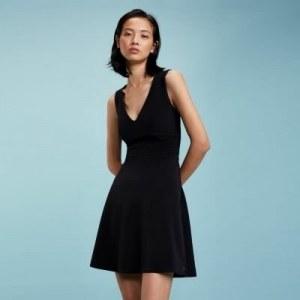 8232c2b89907d1f Платье с V-образным вырезом - Черный - Tommy Hilfiger - EU42 - Женщины