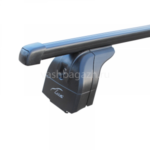 Багажник на крышу LUX прямоугольные дуги 1,2м в пластике на БМВ X4 F26 2020-2020, арт:21214-01