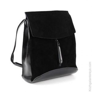 0125c269c965 Женский кожаный рюкзак W275-2 Блек