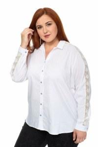 fb67719942f Белая блуза Белый 68 большого размера 56-68 402451-1.7