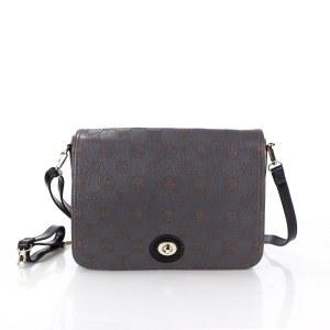 b5af81c5e877 Женская кожаная сумка черного цвета Giorgio Ferretti 36458 89/47 grey/black  GF