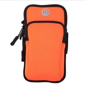 4fb363231491 Спортивная водонепроницаемая сумка-чехол на руку для телефона (оранжевая)