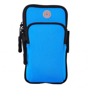 3643097802e8 Спортивная водонепроницаемая сумка-чехол на руку для телефона (голубая)