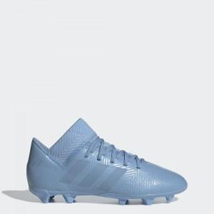 adbc95db Футбольные бутсы Nemeziz Messi 18.3 FG adidas Performance Ash Blue / Ash  Blue / Raw Grey