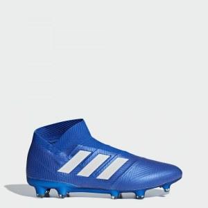 8d4efcc9 Футбольные бутсы Nemeziz 18+ FG adidas Performance Football Blue / Ftwr  White / Football Blue