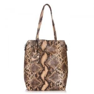 138fcaea9800 Женская кожаная сумка Giorgio Ferretti 32433 13A coffee GF