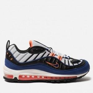 f277da93 Кроссовки Nike Air Max 98 White/Deep Royal Blue/Total Orange/Black