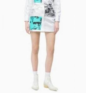 95ae6ef388f CALVIN KLEIN - Джинсовая юбка цвета металлик Энди Уорхол - Деним - 31NI -  Женщины