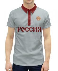 f4569c23527 Рубашка Поло с полной запечаткой Printio Россия  через тьму чернобога.