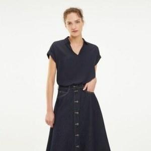 1f22647ba1e Блузка с короткими рукавами - Синий - Tommy Hilfiger - EU40 - Женщины