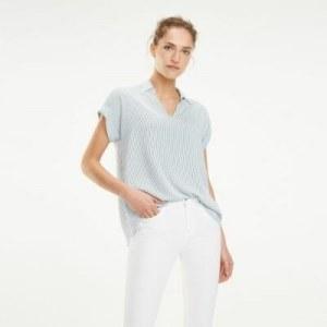 935ba6776a4 Блузка с короткими рукавами - Синий - Tommy Hilfiger - EU36 - Женщины