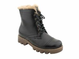 785aa1f48 65127 ШагоВита (Shagovita), ботинки детские зимние профилактические, мех,  кожа, черный