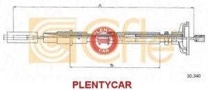 Трос сцепления Cofle 10.340 Vag: 191721335N 191721335D 9210340 Vw Golf Ii (19e 1g1). Vw Golf Mk Ii (19e 1g1). Vw Jetta