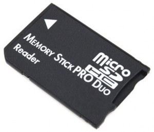 memory stick pro duo adapter