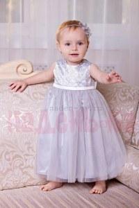 4311e351912 Zironka Нарядное платье Серебряное барокко 4010-2 (110 см (4-5 лет
