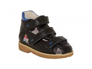 d64e6ae2e 73173-05 Ортек (Ortek), сандалии детские ортопедические с высоким берцем,  кожа