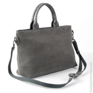 840cc576ac23 Женская кожаная сумка 6105 ГрейS096 замша