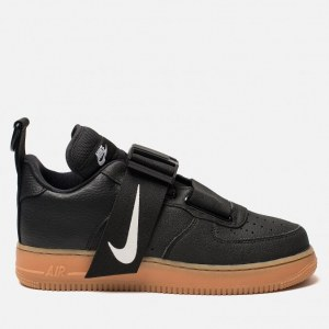 44a3d172 Кроссовки Nike Air Force 1 Utility Black/White/Gum Med Brown